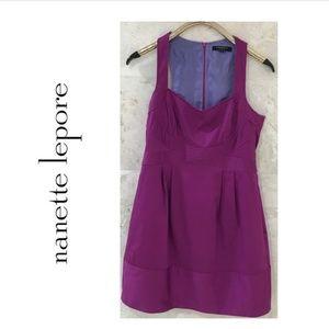 NANETTE LEPORE {8} Dress Sleeveless Purple